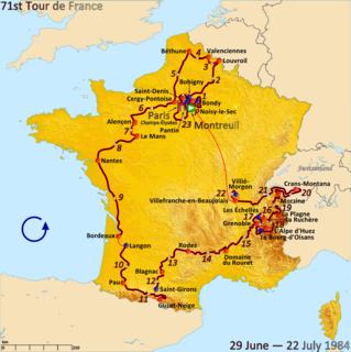 1984 Tour de France, Prologue to Stage 11 Wikimedia list article