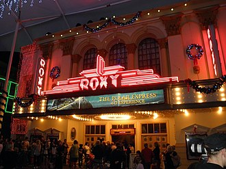 Roxy Theatre (Warner Bros. Movie World) - Image: Roxy Theatre Polar Express 4 D Experience