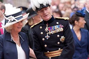 John McColl - Sir John as Lieutenant Governor of Jersey in 2012 with HRH the Duchess of Cornwall.