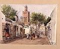 Rue des Orfévres. Tlemcen mars 86. Gata i Algeriet. Akvarell av Fritz von Dardel, 1886 - Nordiska museet - NMA.0037310.jpg