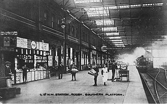Rugby railway station - Rugby Station in 1917