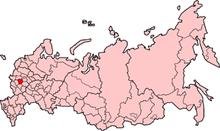 Poloha oblasti v rusku