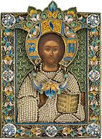 Russian Jewelled Icon of Christ Pantocrator.jpg