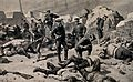 Russo-Japanese War; Japanese soldiers entering a bombed fort Wellcome V0015668.jpg