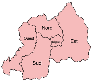Provinces of Rwanda - Map of provinces, 2006