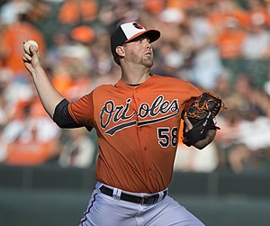 Ryan Webb - Webb pitching for the Baltimore Orioles in 2014