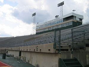 "Rynearson Stadium - The ""home"" (west) side of the stadium"