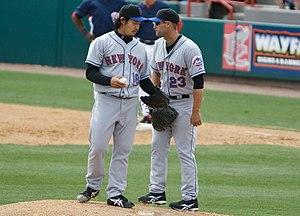 Ryota Igarashi - Igarashi (left) with Chris Carter (right)