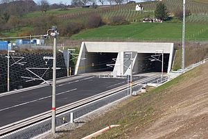 Karlsruhe–Basel high-speed railway - Southern portal of the Katzenberg Tunnel