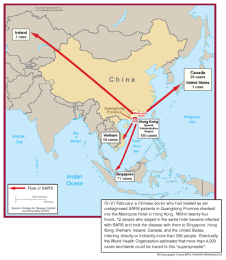 2000s in Hong Kong - Spread of SARS