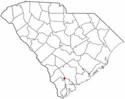 Location of Yemassee, South Carolina