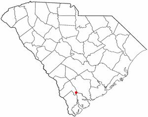 Yemassee, South Carolina - Image: SC Map doton Yemassee