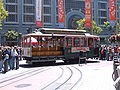 SF cable car no. 9 being turned on Powell St. 1.JPG