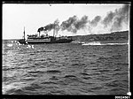 SS Cooma passenger liner under steam in a harbour, 1890-1953 (6869330632).jpg