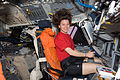 STS-133 ISS-26 Cady Coleman on the flight deck of Discovery.jpg