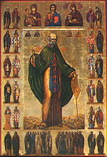 Medieval icon of Saint Sabbas the Sanctified