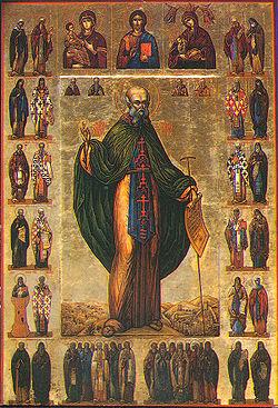 Szabai Szent Szabbász ikonábrázolása