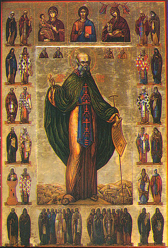 Sabbas the Sanctified - Medieval icon of Saint Sabbas the Sanctified