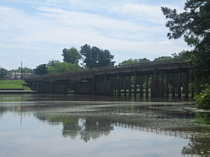 Sabine River (Texas–Louisiana) - Sabine River at Logansport, Louisiana