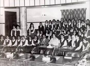 Saddam In 1970s promoting women's education an...