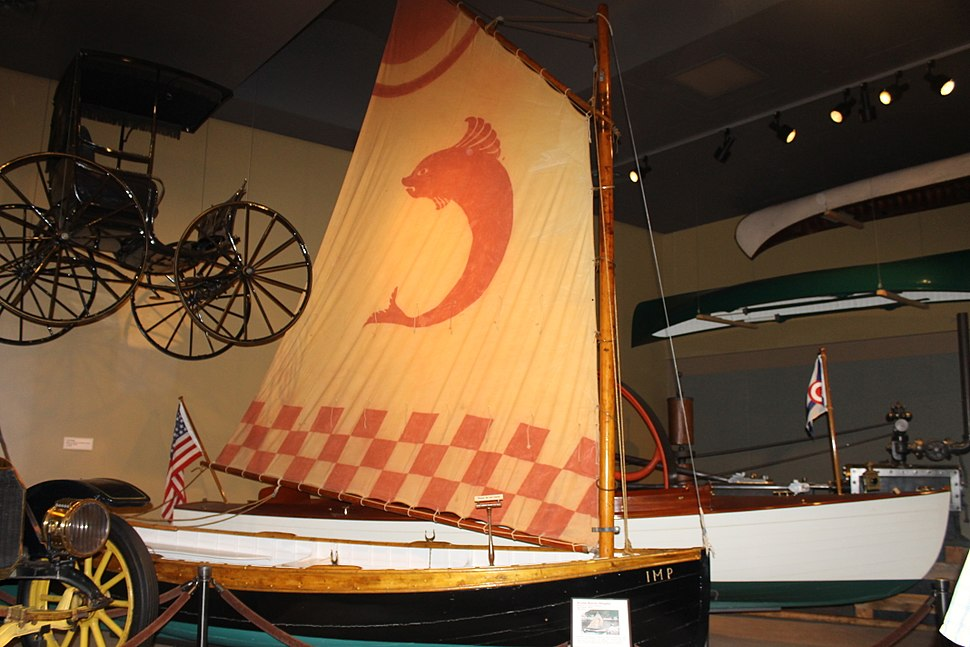 Sailing dinghy at Maine State Museum, Augusta IMG 2025