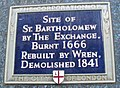 Saint Bartholomew by the Exchange plaque London.jpg