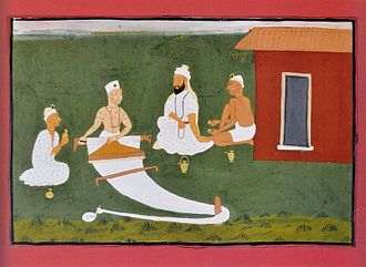 Namdev - Namdev (second from right) with other bhagats of Sikhism: Ravidas, Kabir and Pipa.