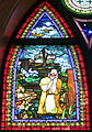 Saint Matthew the Apostle Church (Gahanna, Ohio) - stained glass, Angel with the women at the tomb - detail, Agony in the Garden.JPG