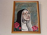 Saint Rita with her forehead wound