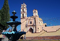 Saints Cosmas and Damian Church, San Cosme Xaloztoc, Tlaxcala, Mexico01.jpg