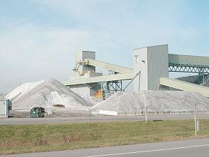 Salt mining - Modern rock-salt mine near Mount Morris, New York