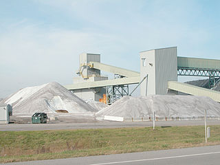 mining operation involved in the extraction of rock salt or halite