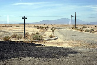 Salton City, California - Part of the road system laid out in Salton City that was never used.