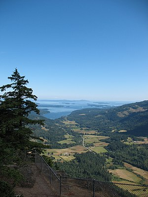Salt Spring Island - View of Fulford Harbour from Mount Maxwell