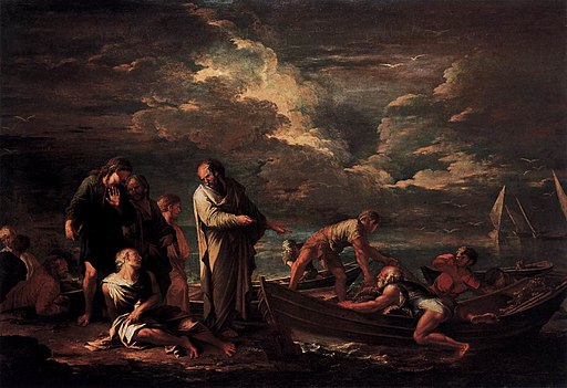 Salvator Rosa - Pythagoras and the Fisherman