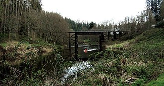 Sammamish River - Sammamish River, as seen in springtime in Bothell, Washington near the intersection of the Sammamish River and Burke-Gilman Trails