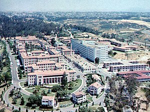 Naval Medical Center San Diego - Image: San Diego, CA Old Naval Hospital aerial, 1950s