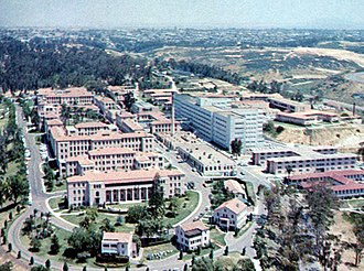 Naval Medical Center San Diego - Aerial view of the Naval Medical Center San Diego as seen in the 1950s