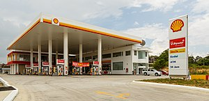 Filling station - A Shell filling station in Sabah, Malaysia