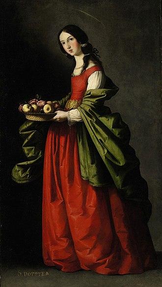 Dorothea of Caesarea - Santa Dorotea by Zurbaran