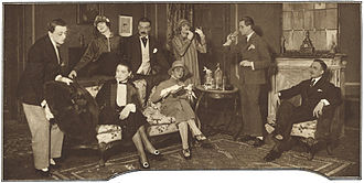 Frederick Lonsdale - Scene from Lonsdale's play Spring Cleaning as performed at the Royal Dramatic Theatre in Stockholm in 1925.