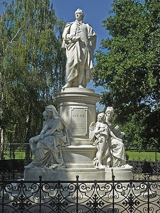 Fritz Schaper - Goethe Monument in the Berliner Tiergarten (1880), his most famous work