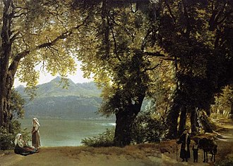 Sylvester Shchedrin - Lake of Albano, 1825