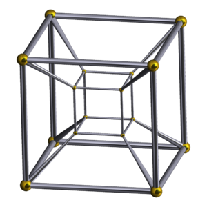 Truncated tesseract - Image: Schlegel wireframe 8 cell