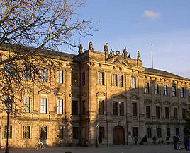 Erlangen Castle is home to a large part of the university administration