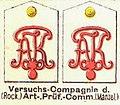 Schulterstücke, Artillerie-Prüfiungs-Commission, Die Uniformen der deutschen Armee, Ruhl, Tafel 32.jpg