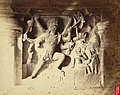 Sculpture of Shiva impaling Andhaka in the Dumar Lena Cave Temple Cave XXIX, Ellora.jpg