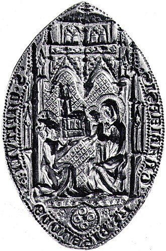 Antidicomarianite - A depiction of Mary with Jesus. The seal of Zagreb.