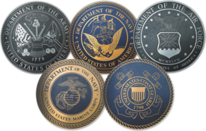 White House Communications Agency - Seals of the branches of the United States Armed Forces