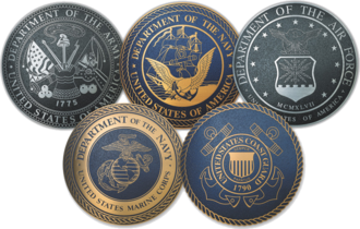 United States Armed Forces - The seals of each of the service branches of the U.S. Armed Forces